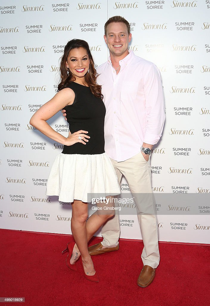 Television personalities <a gi-track='captionPersonalityLinkClicked' href=/galleries/search?phrase=Melissa+Rycroft&family=editorial&specificpeople=5761590 ng-click='$event.stopPropagation()'>Melissa Rycroft</a> (L) and <a gi-track='captionPersonalityLinkClicked' href=/galleries/search?phrase=Tye+Strickland&family=editorial&specificpeople=5999337 ng-click='$event.stopPropagation()'>Tye Strickland</a> arrive at the Simon G Soiree at the Four Seasons Hotel Las Vegas on May 31, 2014 in Las Vegas, Nevada.
