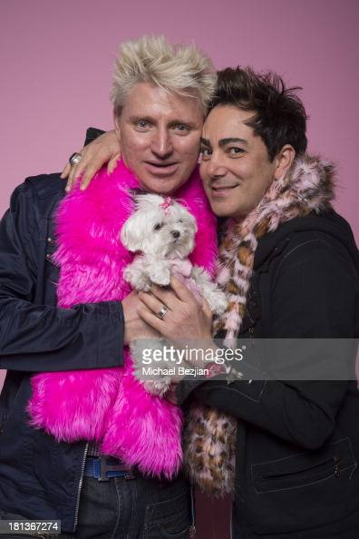 Television personalities Patrick Simpson and Pol Atteu pose for a potrait on September 20 2013 in Los Angeles California