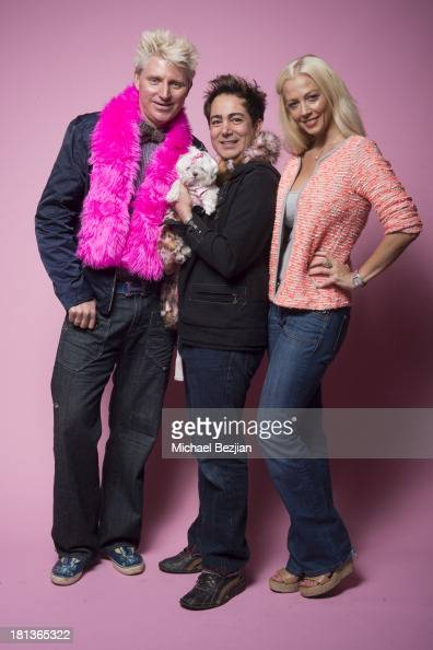 Television personalities Patrick Simpson Pol Atteu and Liz Fuller pose for a potrait on September 20 2013 in Los Angeles California