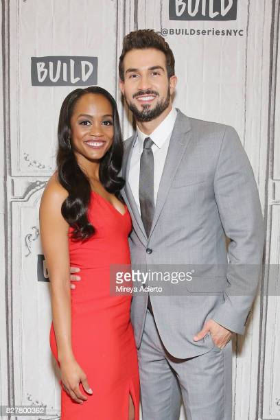 Television personalities Rachel Lindsay and Bryan Abasolo visit Build to discuss her show 'The Bachelorette' at Build Studio on August 8 2017 in New...