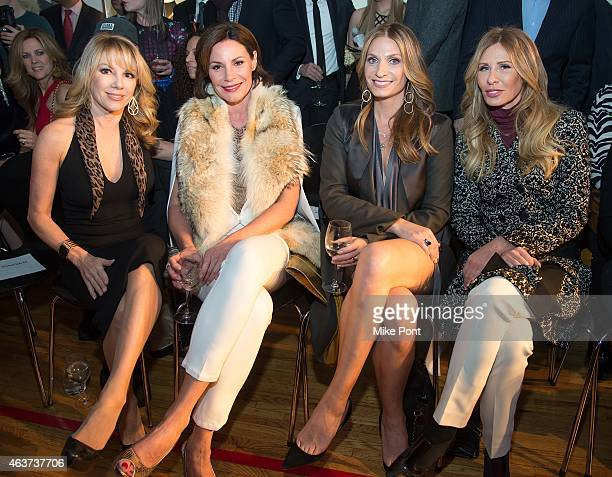 Television personalities Ramona Singer LuAnn de Lesseps Heather Thomson and Carole Radziwill attend the Sonja Morgan New York Brands Launch Event at...