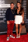 Television personalities Ronnie Magro and Sammi 'Sweetheart' Giancola attend the 2013 MTV Video Music Awards at the Barclays Center on August 25 2013...