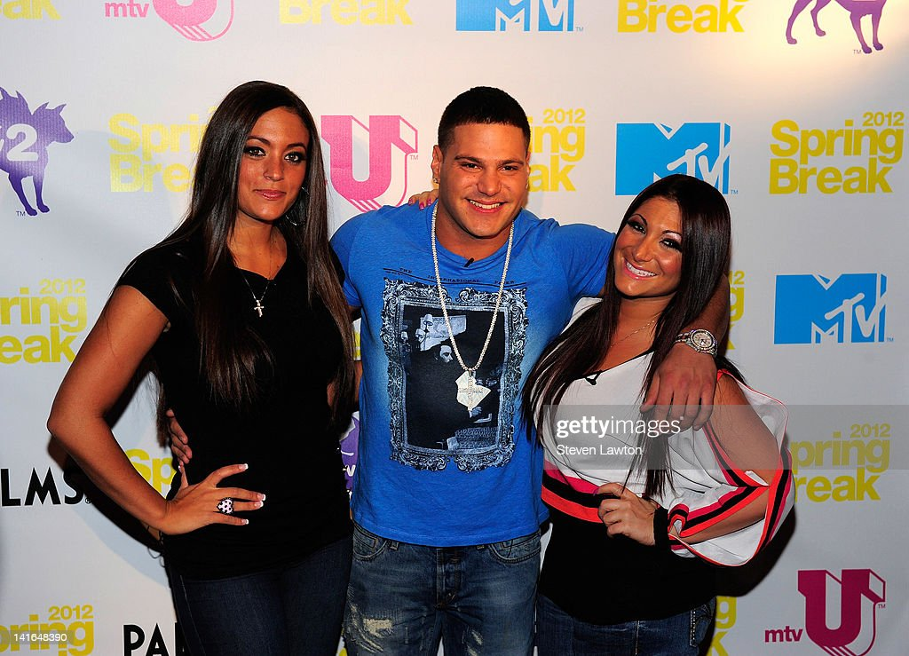 Television personalities Sammi 'Sweetheart' Giancola Ronnie OrtizMagro and Deena Nicole Cortese arrive for Screening party for 'The Cabin In The...