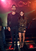 Television personalities Scott Disick and Kourtney Kardashian attend his birthday celebration at 1 OAK Nightclub at The Mirage Hotel Casino on May 23...