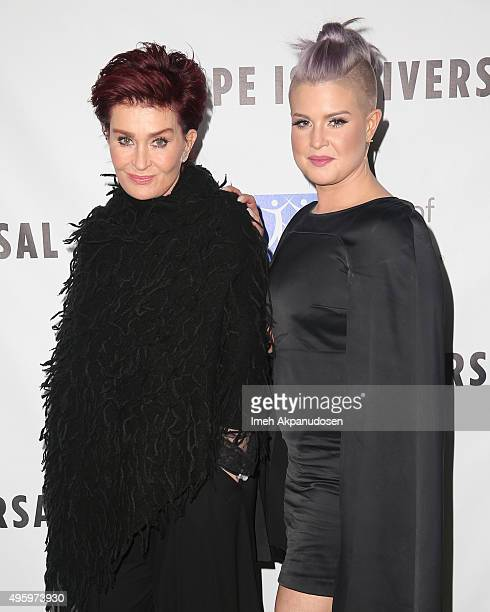 Television personalities Sharon Osbourne and Kelly Osbourne attend City Of Hope's 2015 Spirit Of Life Gala at Santa Monica Civic Auditorium on...