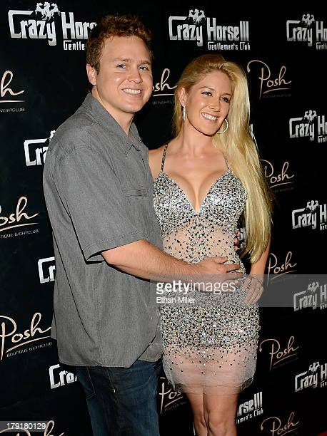Television personalities Spencer Pratt and Heidi Montag arrive at the Crazy Horse III Gentlemen's Club to celebrate Pratt's 30th birthday on August...