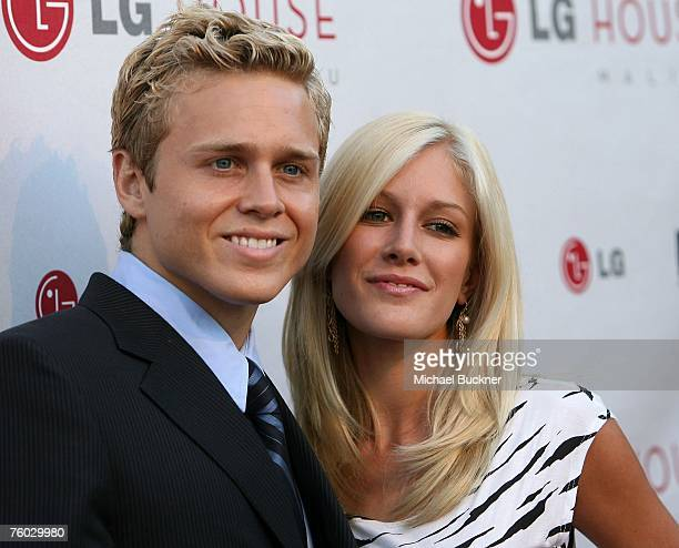 Television personalities Spencer Pratt and Heidi Montag arrive at 'The Hills' Season Three premeire at the LG House on August 8 2007 in in Malibu...