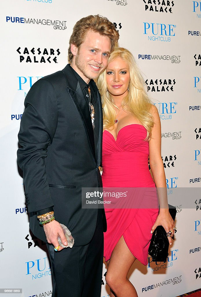 Television personalities Spencer Pratt and Heidi Montag arrive to host an evening at the Pure Nightclub at Caesars Palace early February 14 2010 in...