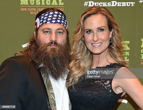 Television personalities Willie Robertson and Korie Robertson attend the 'Duck Commander Musical' premiere at the Crown Theater at the Rio Hotel...