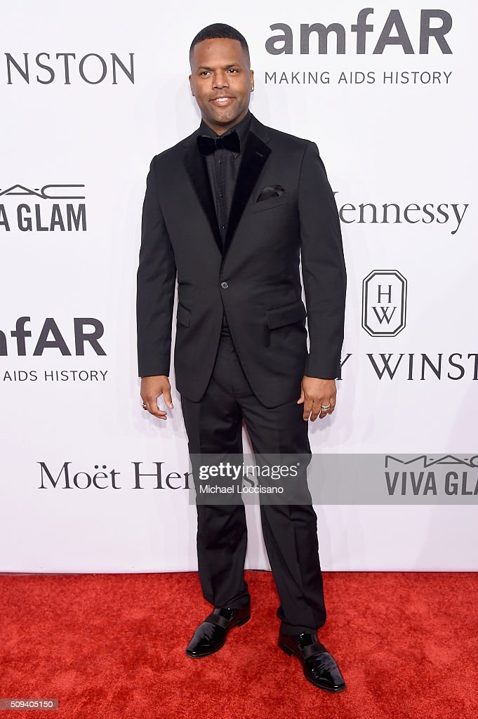 Television personality A. J. Calloway attends 2016 amfAR New York Gala at Cipriani Wall Street on February 10, 2016 in New York City.