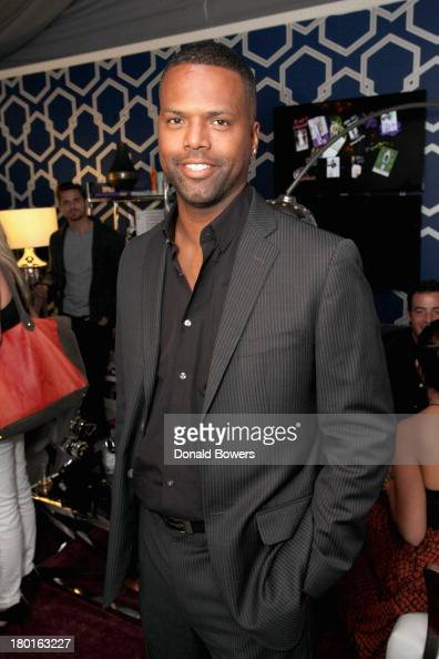 Television personality A J Calloway attends the Samsung Galaxy Lounge during MercedesBenz Fashion Week Spring 2014 at Lincoln Center on September 9...