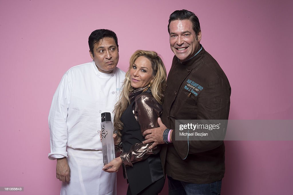 Television Personality Adrienne Maloof and celebrity chef Mark Kearney pose for a portrait at Mark Kearney Group - 'Iced Out' Luxury Emmy Suite on September 19, 2013 in Los Angeles, California.