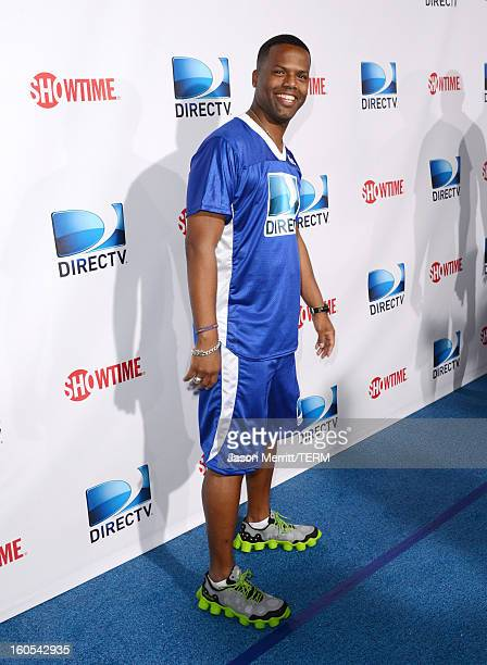 Television personality AJ Calloway attends DIRECTV'S Seventh Annual Celebrity Beach Bowl at DTV SuperFan Stadium at Mardi Gras World on February 2...
