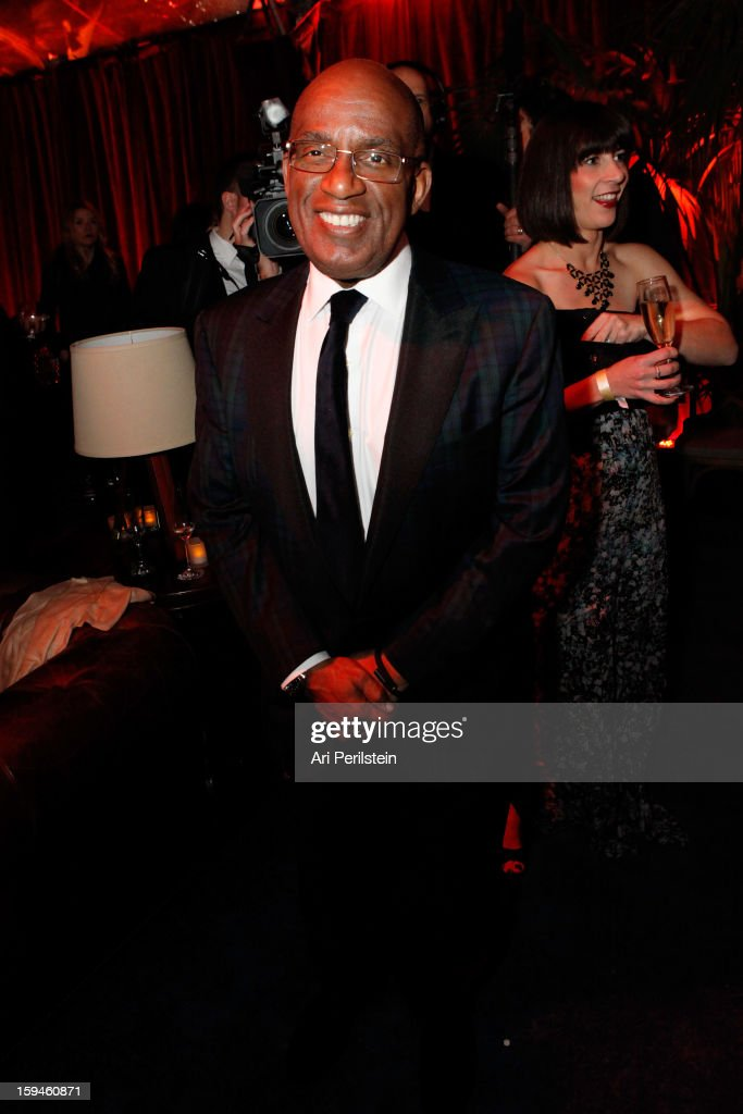 Television personality <a gi-track='captionPersonalityLinkClicked' href=/galleries/search?phrase=Al+Roker&family=editorial&specificpeople=206153 ng-click='$event.stopPropagation()'>Al Roker</a> attends the The Weinstein Company's 2013 Golden Globe Awards after party presented by Chopard, HP, Laura Mercier, Lexus, Marie Claire, and Yucaipa Films held at The Old Trader Vic's at The Beverly Hilton Hotel on January 13, 2013 in Beverly Hills, California.