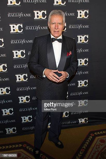 Television Personality Alex Trebek attends the Broadcasting and Cable 23rd Annual Hall of Fame Awards Dinner at The Waldorf Astoria on October 28...