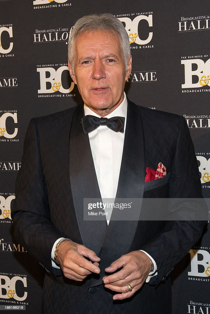 Television Personality Alex Trebek attends the Broadcasting and Cable 23rd Annual Hall of Fame Awards Dinner at The Waldorf Astoria on October 28, 2013 in New York City.