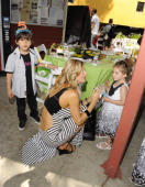 Television personality Alexis Bellino and McKenna Bellino attend the Jim Henson Company and PBS SoCal Dinosaur Train Event at Los Angeles Live...