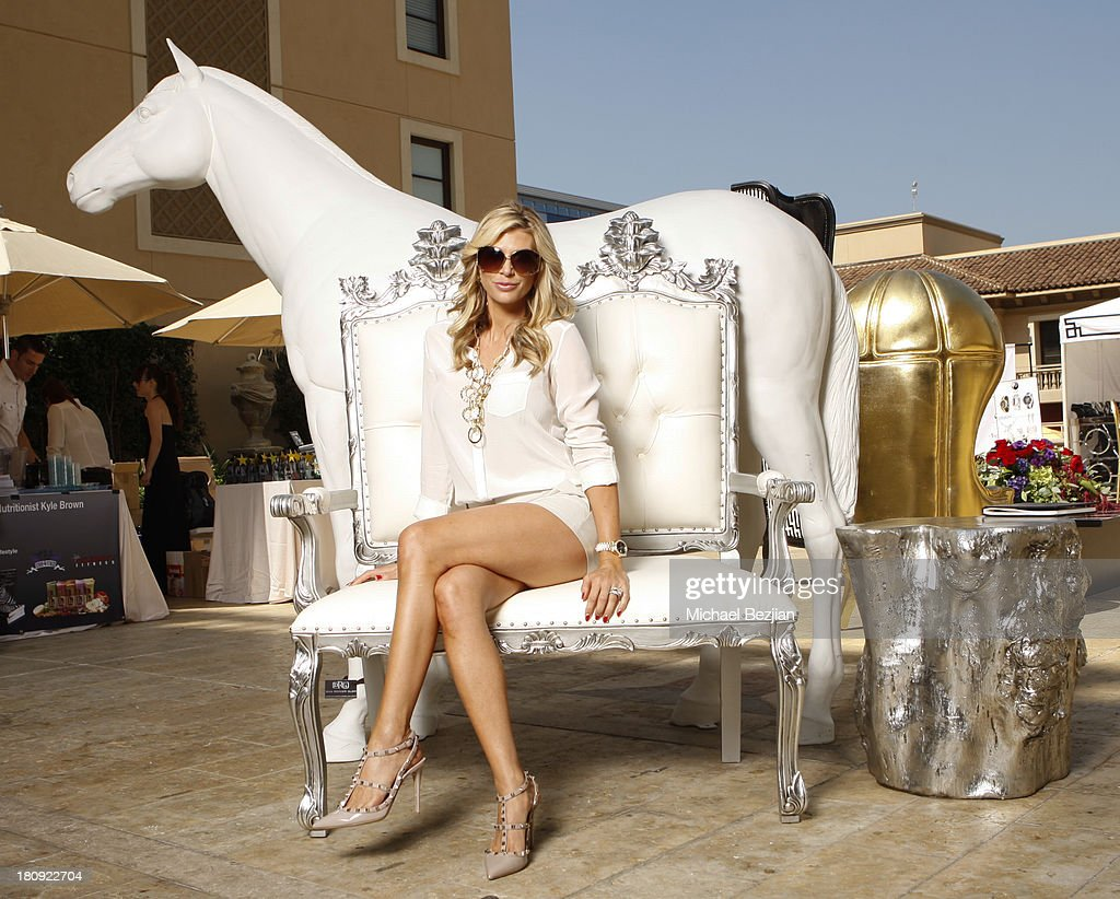 Television personality Alexis Bellino poses for a portrait at Bellafortuna Luxury Gift Suite Presented By Feri on September 17 2013 in Beverly Hills...