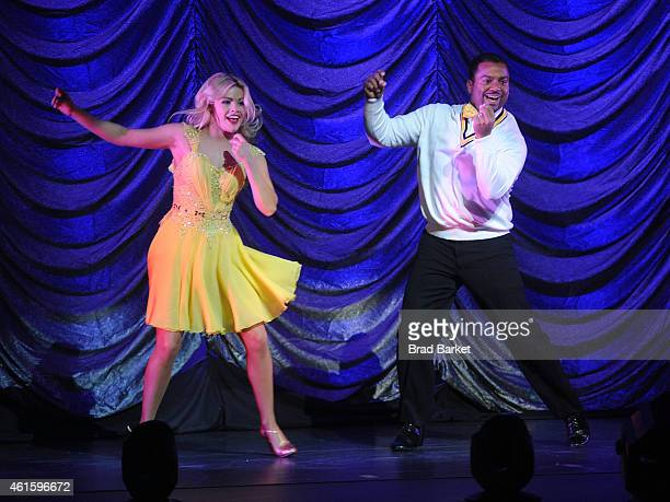 Television Personality Alfonso Ribeiro and Witney Carson performs at Dancing With The Stars Live at The Beacon Theatre on January 15 2015 in New York...
