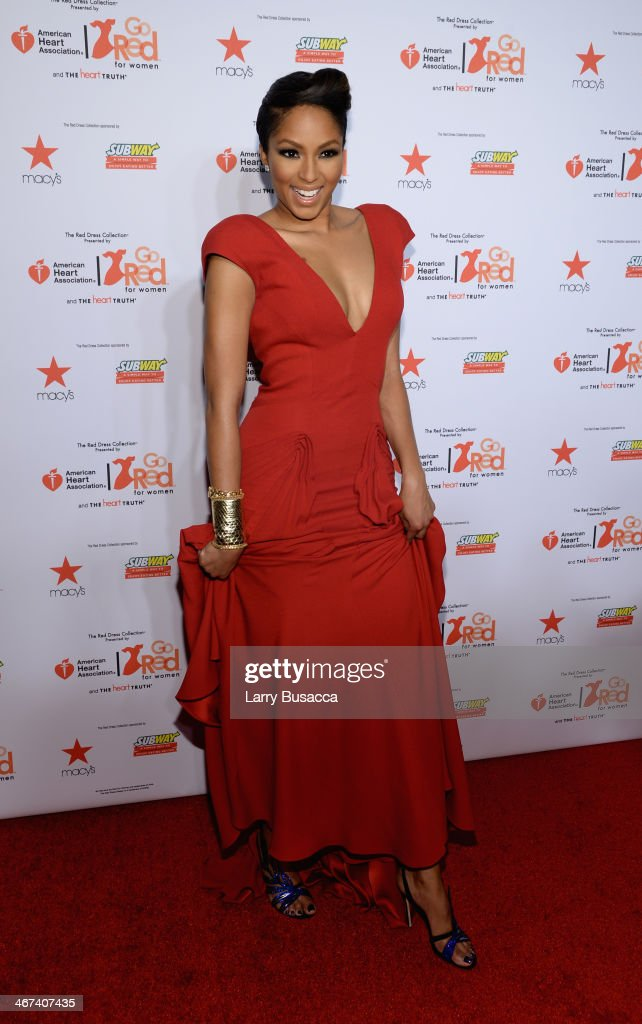 Television personality Alicia Quarles attends Go Red For Women The Heart Truth Red Dress Collection 2014 Show Made Possible By Macy's And SUBWAY Restaurants at The Theatre at Lincoln Center on February 6, 2014 in New York City.