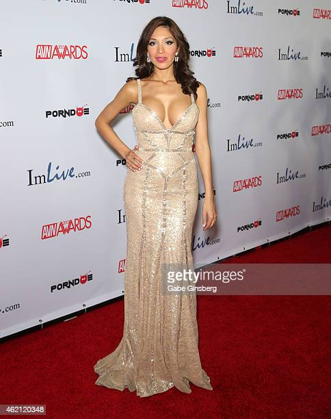 Television personality and adult film actress Farrah Abraham arrives at the 2015 Adult Video News Awards at the Hard Rock Hotel Casino on January 24...