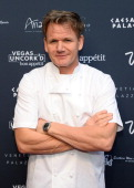 Television personality and chef Gordon Ramsay attends Vegas Uncork'd by Bon Appetit's Grand Tasting event at Caesars Palace on May 9 2014 in Las...