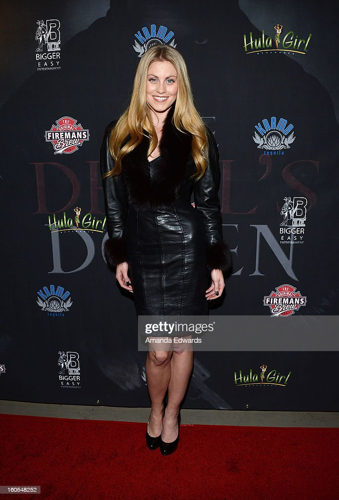 Television personality and model Canden Bliss Jackson arrives at the Los Angeles Premiere of 'The Devil's Dozen' at Mann's Chinese 6 Theatres on February 1, 2013 in Hollywood, California.