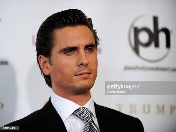 Television personality and pageant judge Scott Disick arrives at the 2012 Miss Universe Pageant at Planet Hollywood Resort Casino on December 19 2012...