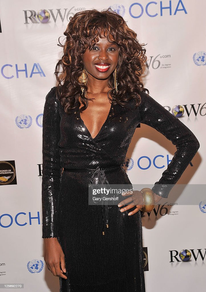 Television personality and Row6 founder <a gi-track='captionPersonalityLinkClicked' href=/galleries/search?phrase=June+Sarpong&family=editorial&specificpeople=211482 ng-click='$event.stopPropagation()'>June Sarpong</a> attends the Row6: Six Degrees of Integration exhibition opening at Phillips de Pury & Company on September 20, 2011 in New York City.