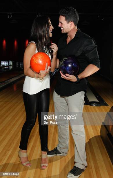 Television personality Andi Dorfman and television personality Josh Murray attend a surprise birthday party for Josh Murray thrown by fiance...