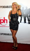 Television personality Angel Porrino arrives at a screening of Lionsgate Films' 'The Expendables' at the Planet Hollywood Resort Casino August 11...