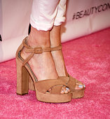 Television personality Ariana Madix shoe detail arrives at the 4th Annual Beautycon Festival Los Angeles at the Los Angeles Convention Center on July...