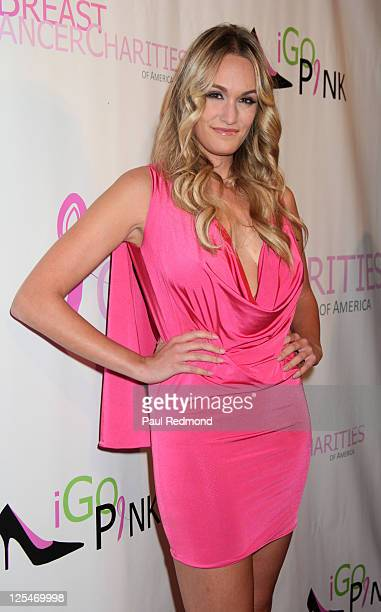Television personality Ashlan Gorse arrives at The Breast Cancer Of America Charities Fashion Show And Fundraiser on October 13 2010 in Los Angeles...