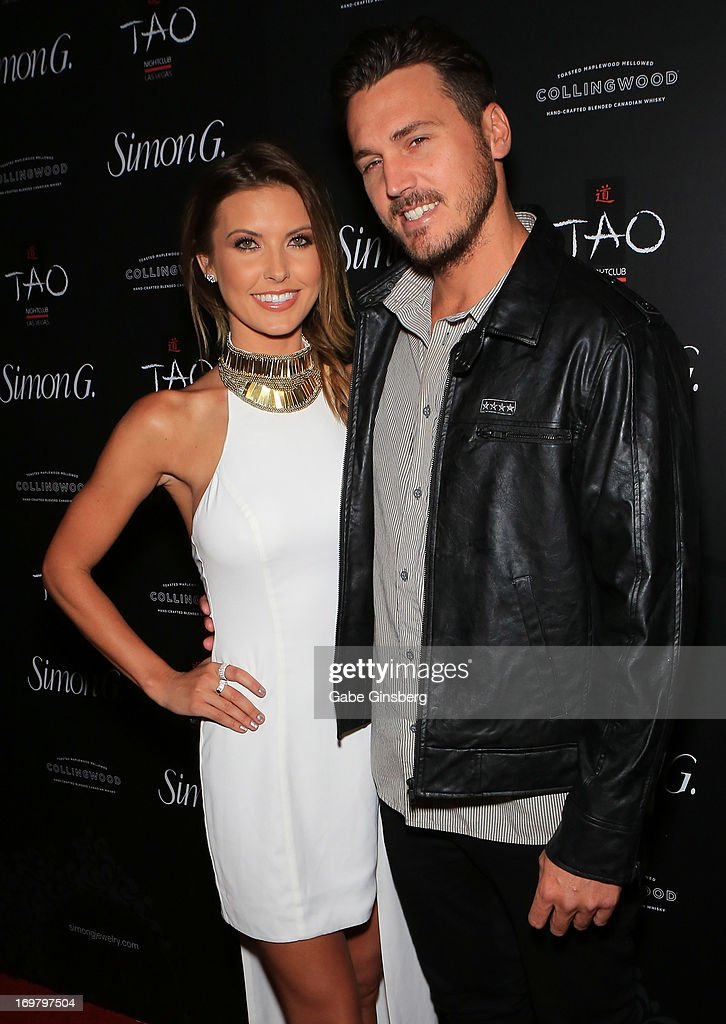 Television personality <a gi-track='captionPersonalityLinkClicked' href=/galleries/search?phrase=Audrina+Patridge&family=editorial&specificpeople=2584350 ng-click='$event.stopPropagation()'>Audrina Patridge</a> (L) and BMX rider <a gi-track='captionPersonalityLinkClicked' href=/galleries/search?phrase=Corey+Bohan&family=editorial&specificpeople=1053637 ng-click='$event.stopPropagation()'>Corey Bohan</a> arrive at the annual Simon G. Soiree at the Tao Nightclub at The Venetian Las Vegas on June 1, 2013 in Las Vegas, Nevada.