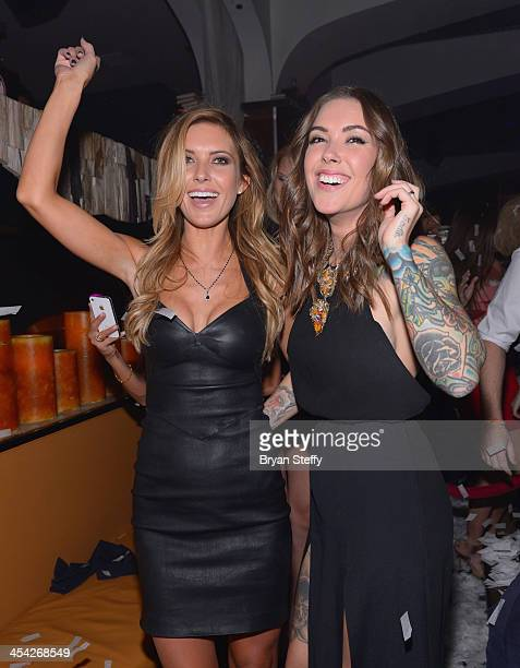 Television personality Audrina Patridge and her sister musician Casey Loza appear as Patridge hosts at Hyde Bellagio at the Bellagio on December 7...