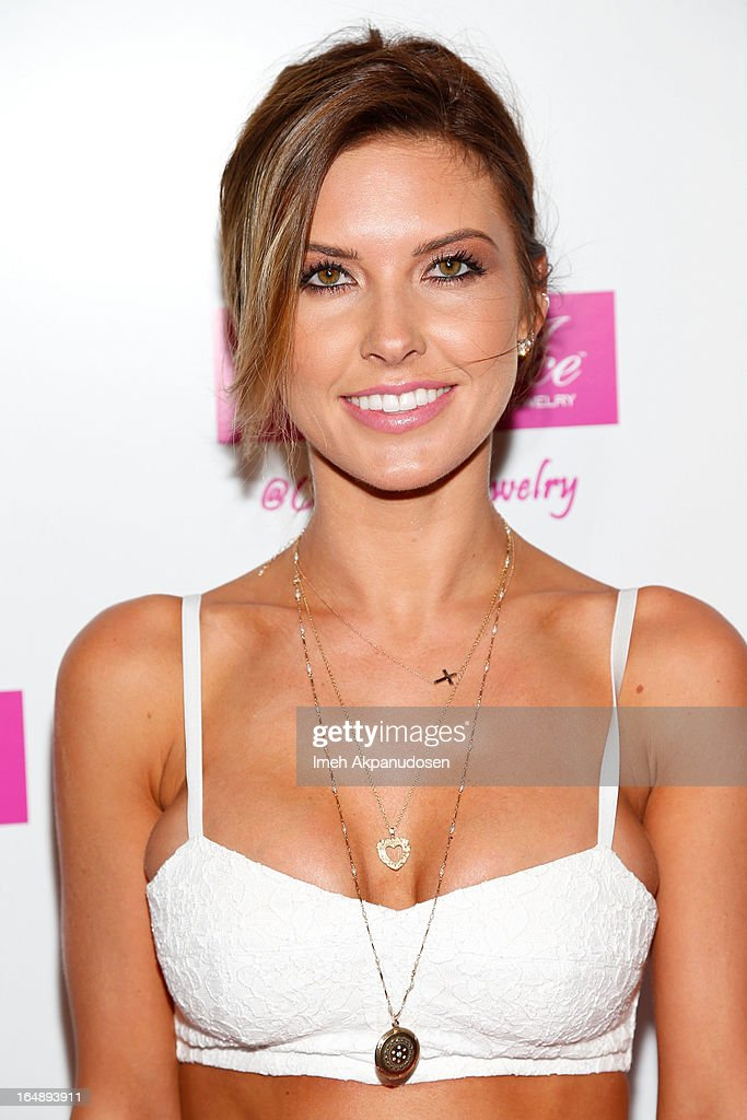 Television personality Audrina Patridge attends the Fire & Ice Gala Benefiting Fresh2o at Lexington Social House on March 28, 2013 in Hollywood, California.