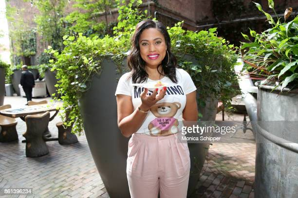 Television personality Ayesha Curry attends the Family Ice Cream Fundae hosted by Mario Batali and Ayesha Curry at Private Park at Hudson on October...