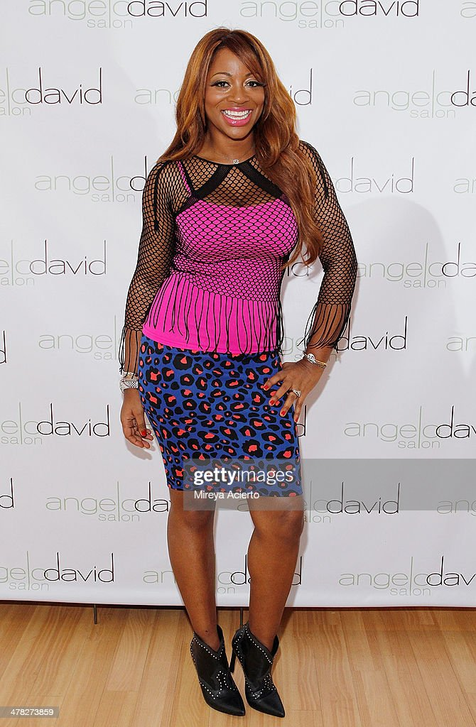Television personality Bershan Shaw attends the 'Leggy Blonde' Book Event at Angelo David Salon on March 12, 2014 in New York City.