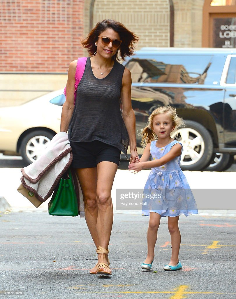 Television personality Bethenny Frankel and Bryn Hoppy walk in Tribeca on June 11 2015 in New York City