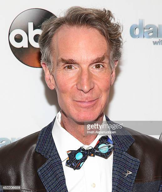 Television personality Bill Nye attends the 'Dancing With The Stars' Wrap Party at Sofitel Hotel on November 26 2013 in Los Angeles California