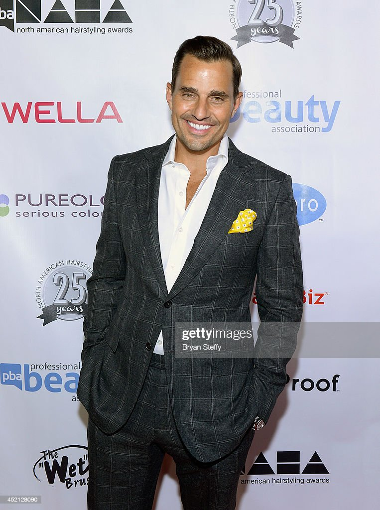 Television personality Bill Rancic arrives at The North American Hairstyling Awards 25th anniversary celebration at the Mandalay Bay Convention...