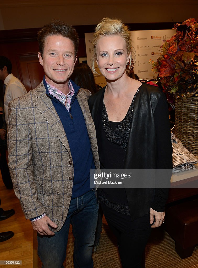 Television personality Billy Bush (L) and actress Monica Potter attend the Faconnable Kicks Off The Holidays Shopping Event Benefitting Lollipop Theater Network at Faconnable on November 13, 2012 in Beverly Hills, California.