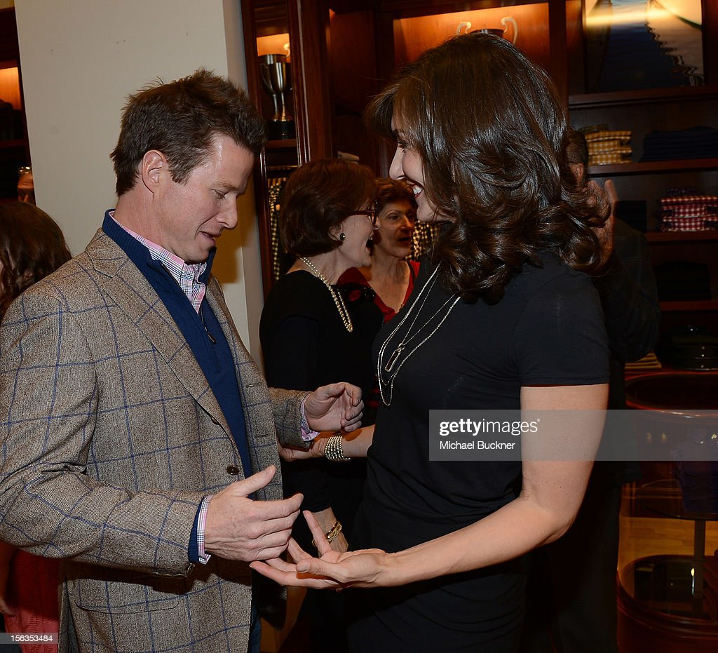Television Personality Billy Bush (L) and Evelyn Iocolano, of Lollipop, attend the Faconnable Kicks Off The Holidays Shopping Event Benefitting Lollipop Theater Network at Faconnable on November 13, 2012 in Beverly Hills, California.