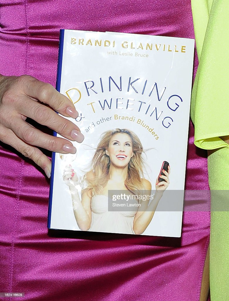 Television personality <a gi-track='captionPersonalityLinkClicked' href=/galleries/search?phrase=Brandi+Glanville&family=editorial&specificpeople=841250 ng-click='$event.stopPropagation()'>Brandi Glanville</a> (book detail) arrives to release her new book 'Drinking & Tweeting and other Brandi Blunders' at the Lavo Restaurant & Nightclub at The Palazzo on February 22, 2013 in Las Vegas, Nevada.