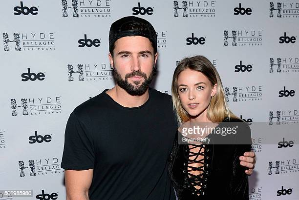 Television personality Brody Jenner and model Kaitlynn Carter arrive at Hyde Bellagio at the Bellagio as he hosts 'Infamous Wednesdays' on December...