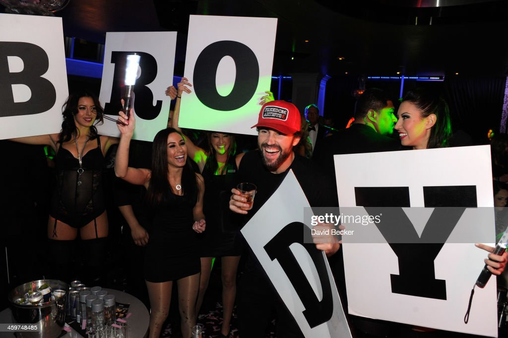 Television personality <a gi-track='captionPersonalityLinkClicked' href=/galleries/search?phrase=Brody+Jenner&family=editorial&specificpeople=689564 ng-click='$event.stopPropagation()'>Brody Jenner</a> attends a New Year's weekend celebration at Ghostbar at the Palms Casino Resort on December 29, 2013 in Las Vegas, Nevada.