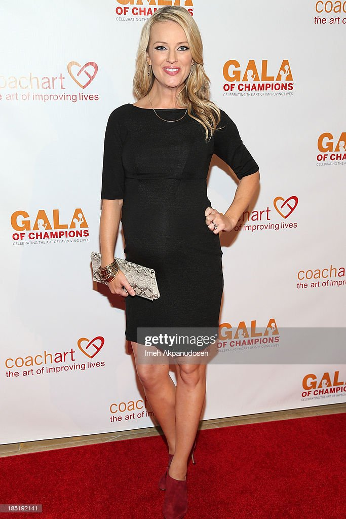 Television personality Brooke Anderson attends CoachArt's 9th Annual 'Gala Of Champions' at The Beverly Hilton Hotel on October 17, 2013 in Beverly Hills, California.