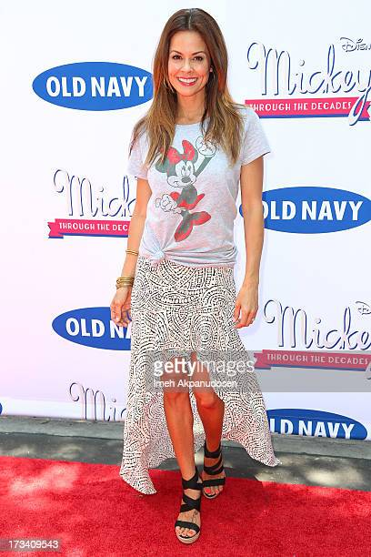 Television personality Brooke BurkeCharvet attends the Old Navy Disney's 'Mickey Through The Decades' Collection Celebration at Walt Disney Studios...