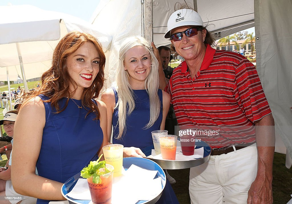 Television personality Bruce Jenner (R) attends the Marshall Faulk Celebrity Golf Championship Presented by GREY GOOSE held at La Costa Resort & Spa on May 19, 2013 in Carlsbad, California.
