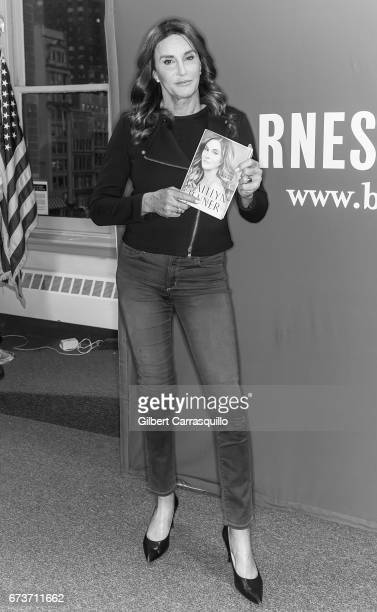 Television personality Caitlyn Jenner signs copies of her new book 'The Secrets of My Life' at Barnes Noble Union Square on April 26 2017 in New York...